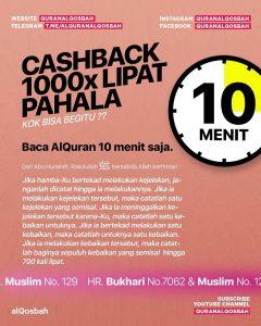 Baca alQuran 10 Menit Cashback 1000x